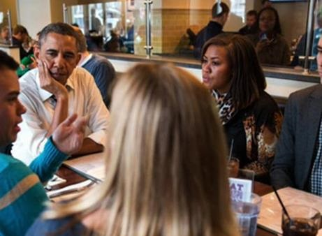 News video: President Obama's Lunch Photo Op
