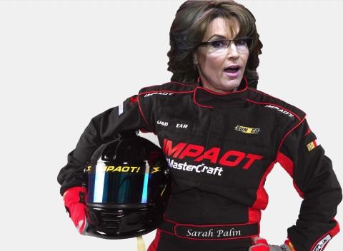 News video: Sarah Palin Makes NASCAR Joke About Speeding Ticket