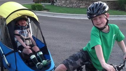 News video: Boy Tows Special Needs Brother In Triathlon